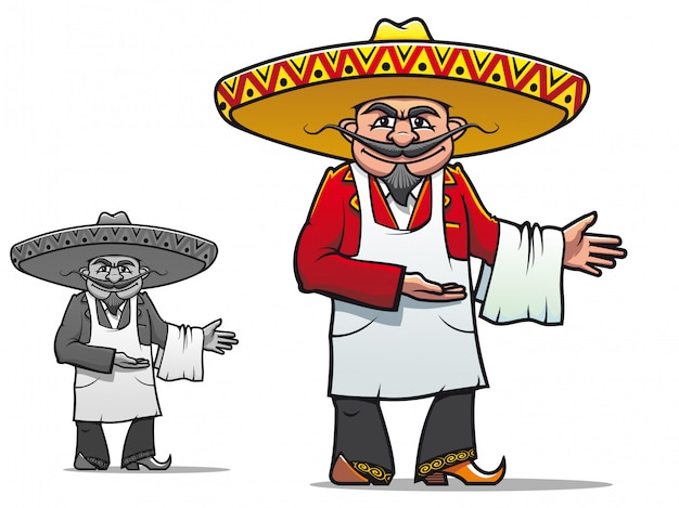 Chef Mexicain Vecteur Premium
