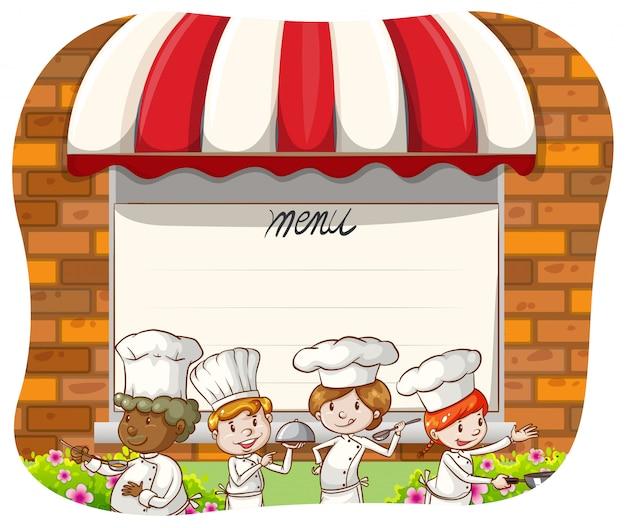 Chef de restaurant Vecteur gratuit