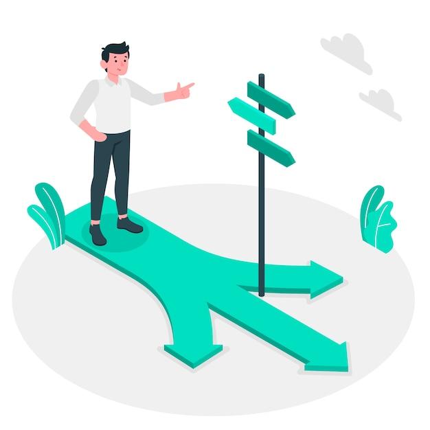 Sur Le Chemin Concept Illustration Vecteur gratuit