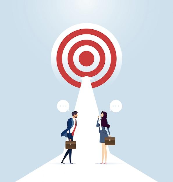 Chemin du succès Vecteur Premium