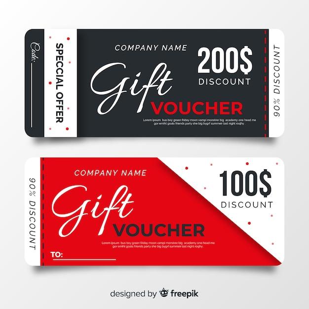 Chèque cadeau Vecteur gratuit