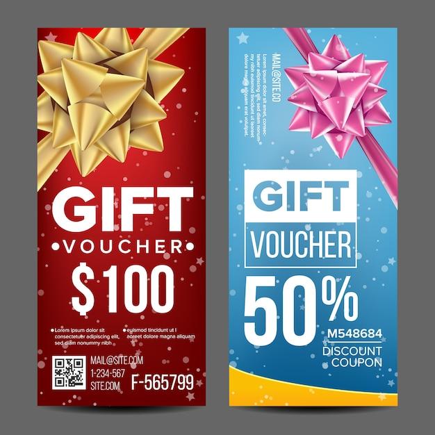 Chèque cadeau Vecteur Premium