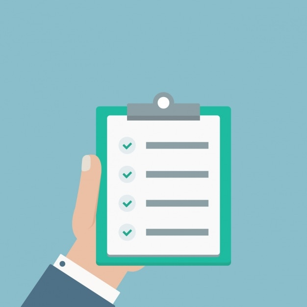 chèque design plat de liste Vecteur gratuit