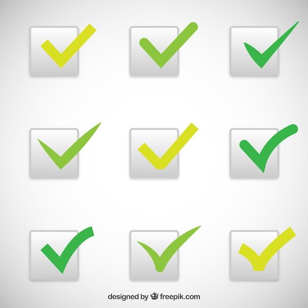 Chèque vert marque collection Vecteur Premium