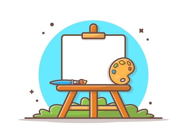 Chevalet Art Board Vector Illustration Vecteur Premium