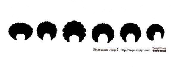 Cheveux afro Vecteur gratuit