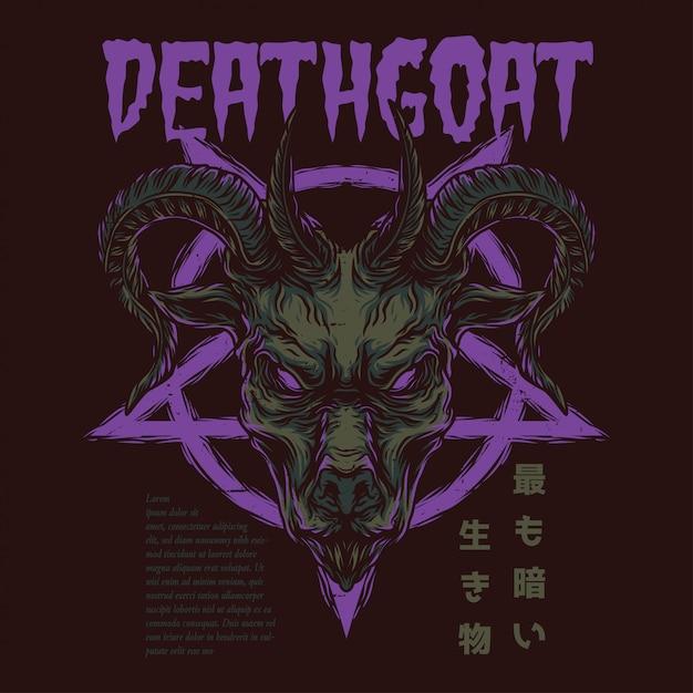 La chèvre de la mort Vecteur Premium