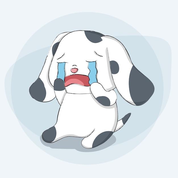 Chien Mignon Dessin Anime Animal Dessines A La Main Telecharger