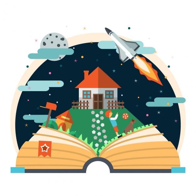 Childs livre d'histoire Vecteur gratuit
