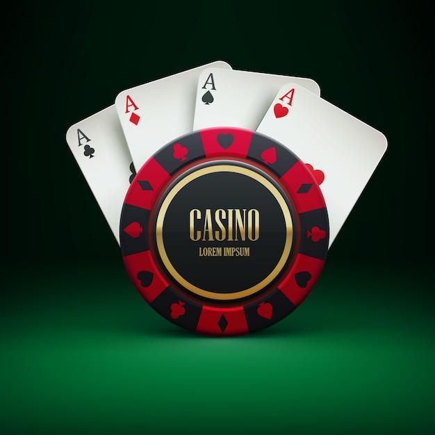 Chip de casino avec place pour thème textral Vecteur Premium