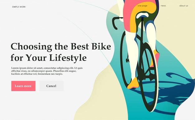 Choisir Le Meilleur Vélo Pour Votre Style De Vie. Cyclisme. Vecteur Premium