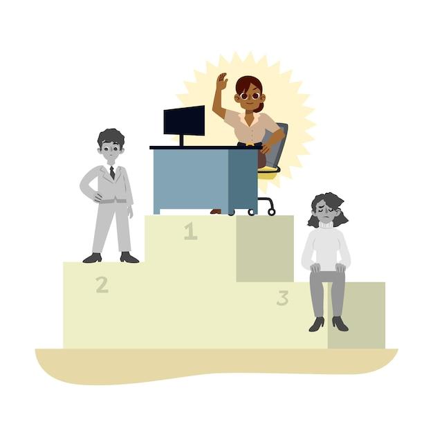 Choix De L'illustration De Concept De Travailleur Vecteur gratuit