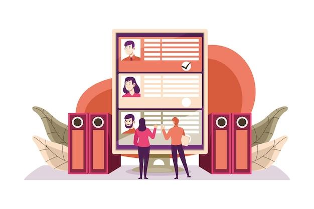 Choix Illustré Du Concept De Travailleur Vecteur gratuit