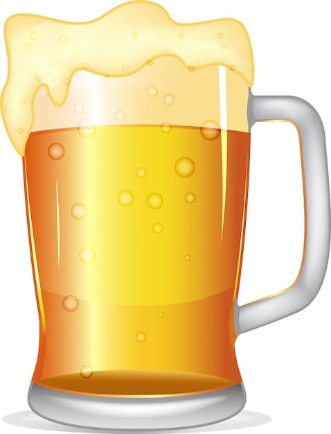 Chope de bière Vecteur Premium