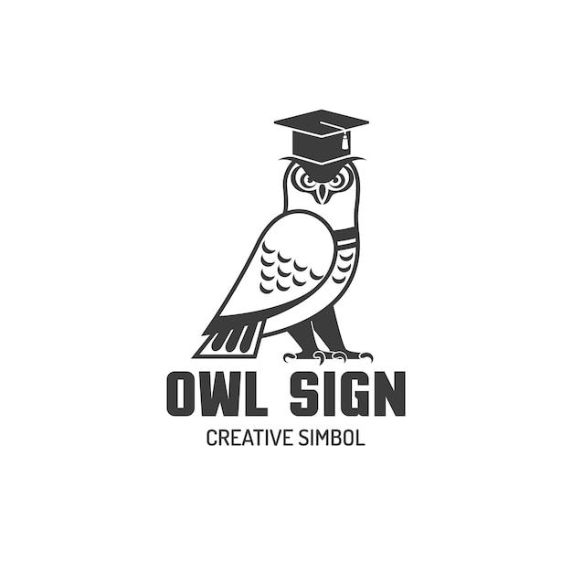 Chouette logo plat Vecteur gratuit