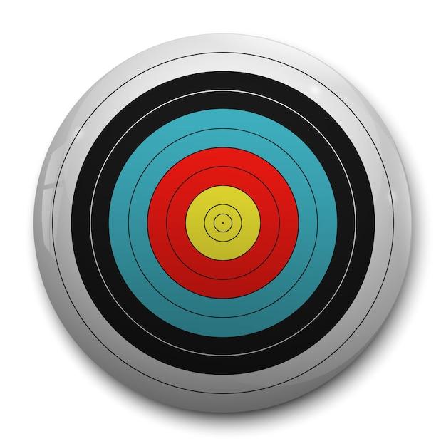Cible réaliste 3d pour cible de tir à l'arc Vecteur Premium