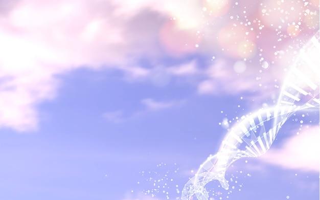 Ciel Bleu Avec Des éléments Scientifiques Abstraits Vecteur gratuit