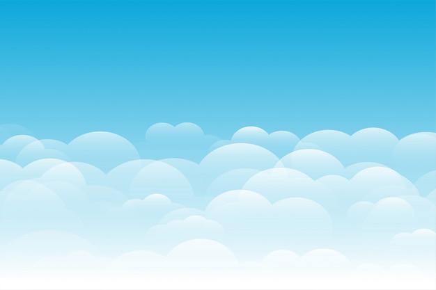 Ciel Bleu Avec Fond De Nuages élégant Vecteur gratuit