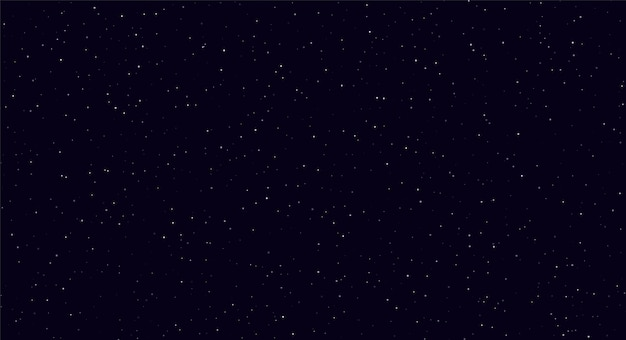 Ciel Nocturne Abstrait, Blanc Scintille Sur Fond Bleu Foncé. Vecteur Premium