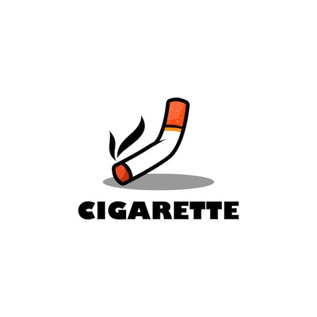 Cigarette logo Vecteur Premium