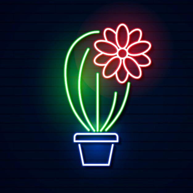 Cinco de mayo. enseigne lumineuse au néon Vecteur Premium