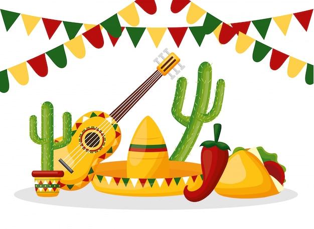 Cinco de mayo mexique Vecteur gratuit