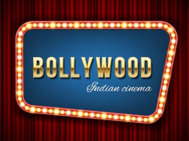Cinéma bollywood, cinéma indien, cinématographie. Vecteur Premium
