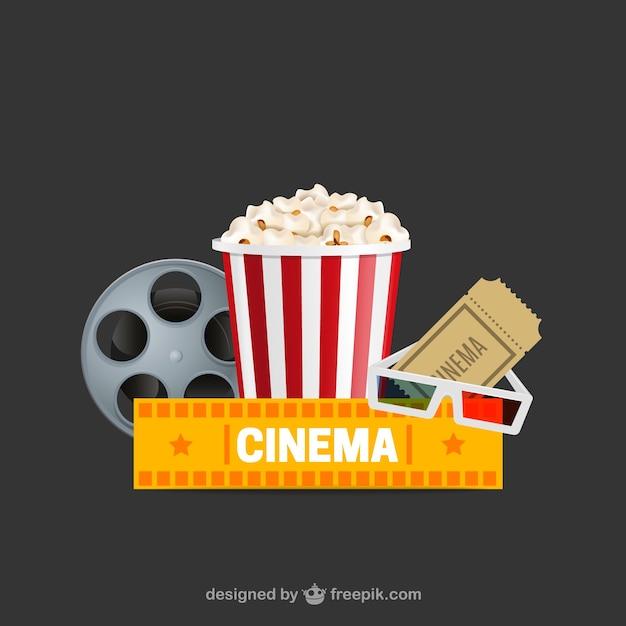 Cinéma logo Vecteur gratuit