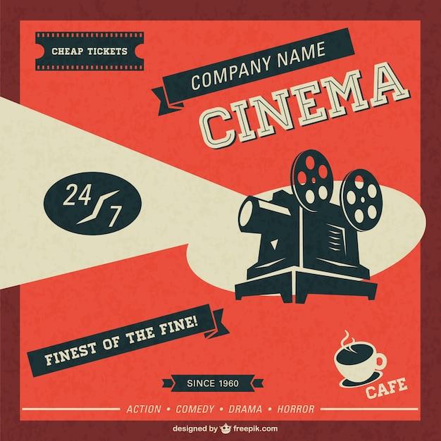 Cinéma rétro modèle téléchargement gratuit Vecteur gratuit