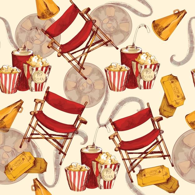 Cinéma sans soudure Vecteur Premium