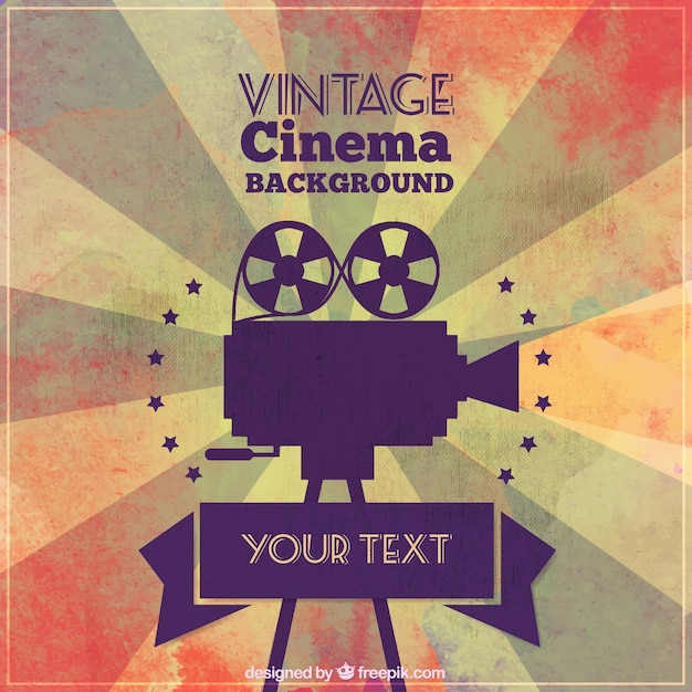 Cinéma Vintage Background Vecteur gratuit