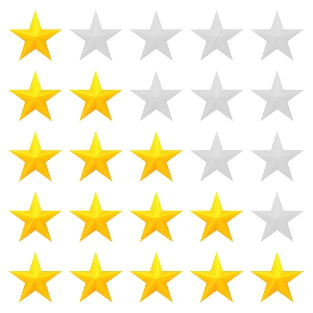 Cinq étoiles Vecteur Premium