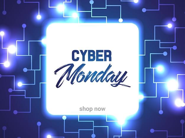 Circuit abstrait cyber lundi Vecteur Premium