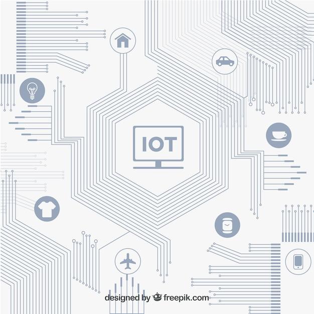 Circuit moderne et contexte de connectivité Vecteur gratuit