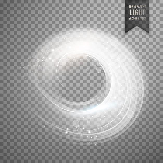 Circulaire fond effet de la lumière blanche transparente Vecteur gratuit