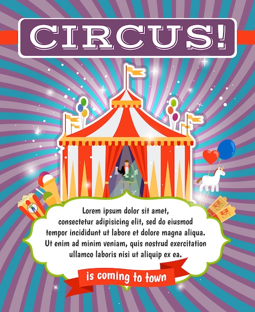 Cirque vintage Vecteur Premium