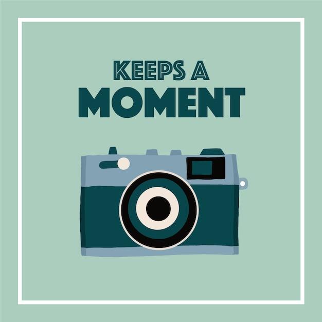 Citation De L'appareil Photo Vecteur Premium