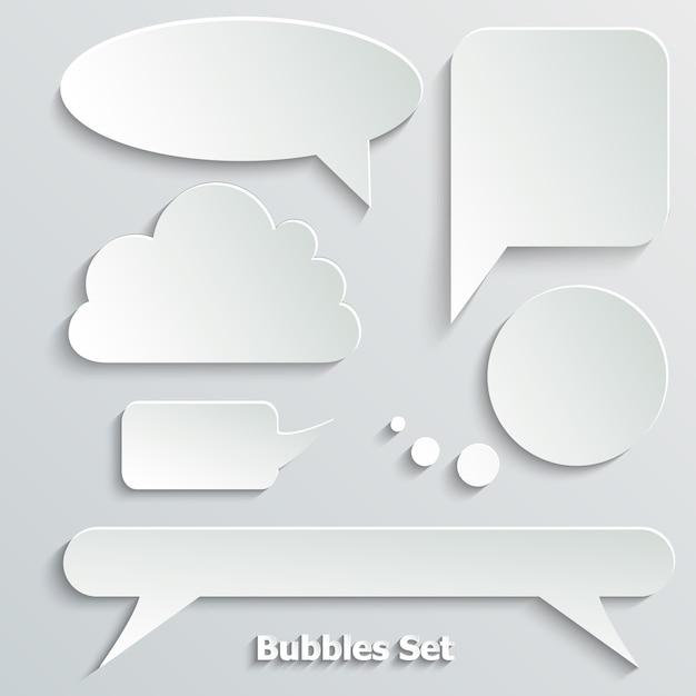 Citation, bulle vide, bannière. Vecteur Premium