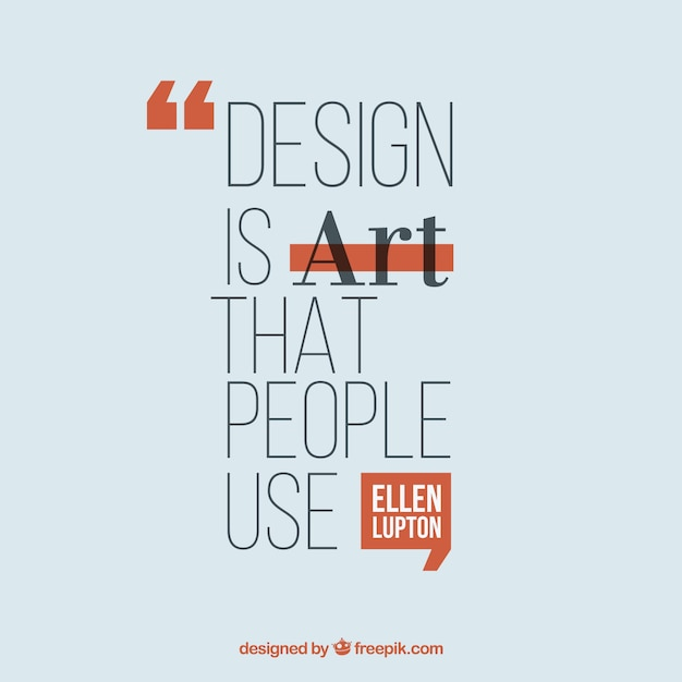 Citation de design graphique dans un style plat Vecteur gratuit