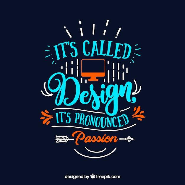 Citation de design graphique en style dessiné à la main Vecteur gratuit