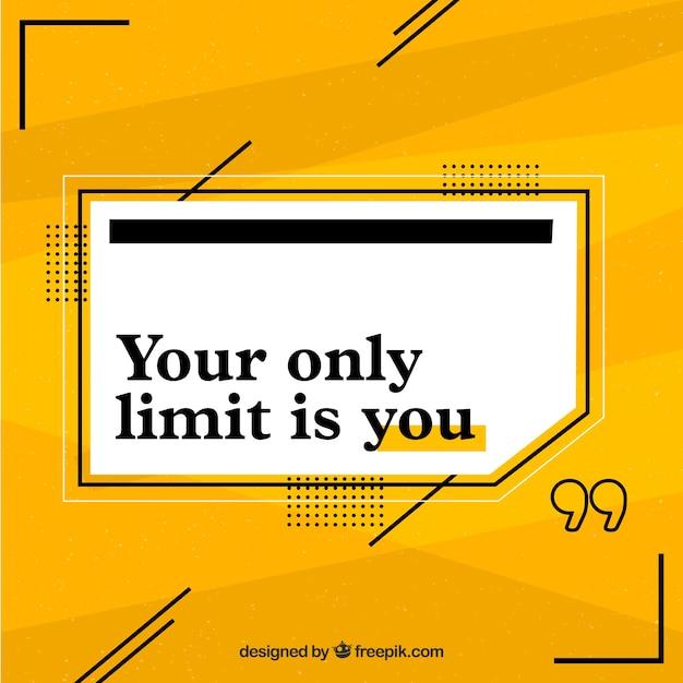 Citation de motivation avec fond jaune Vecteur gratuit