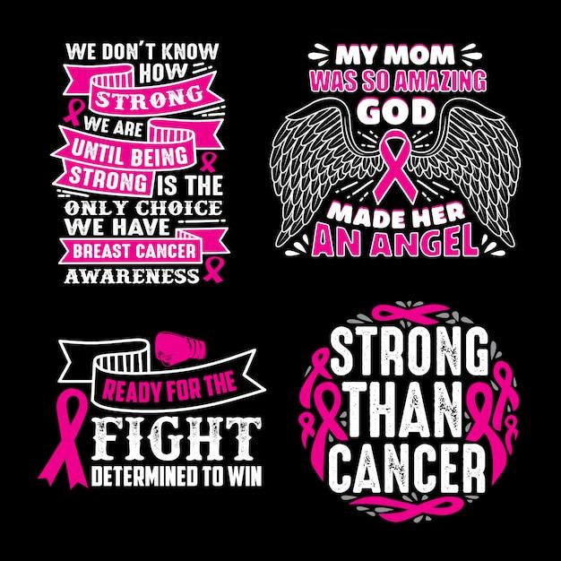 Superbe Citations sur le cancer du sein   Télécharger des Vecteurs Premium #BD_02