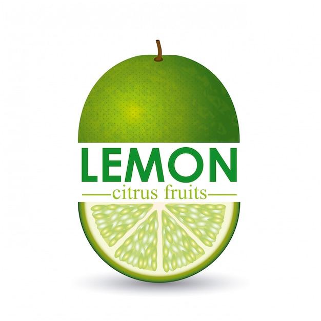 Citron design Vecteur Premium