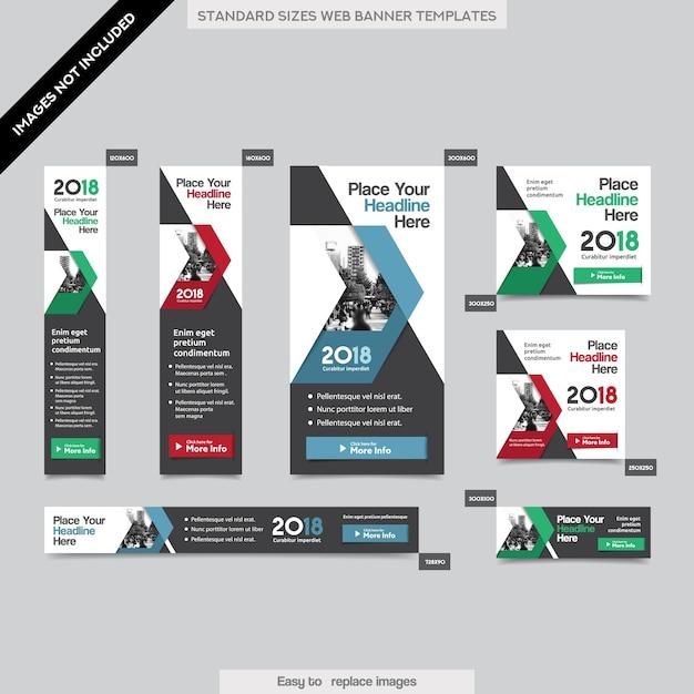 City Background Corporate Web bannière modèle en plusieurs tailles. Facile à adapter à la brochure, au rapport annuel, au magazine, à l'affiche, à la publicité d'entreprise, au flyer, au site Web. Vecteur Premium