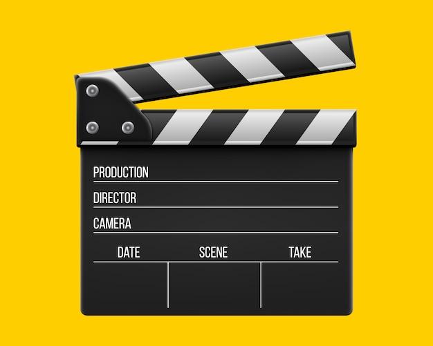 Clap de cinéma Vecteur Premium