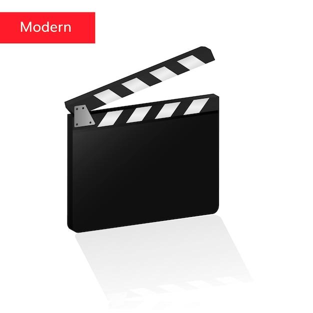 Clapper board 3d réaliste Vecteur Premium