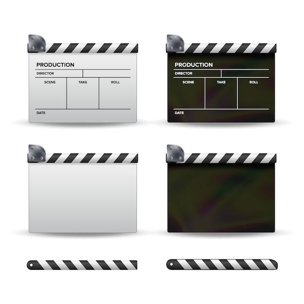Clapper Board. Vecteur Premium