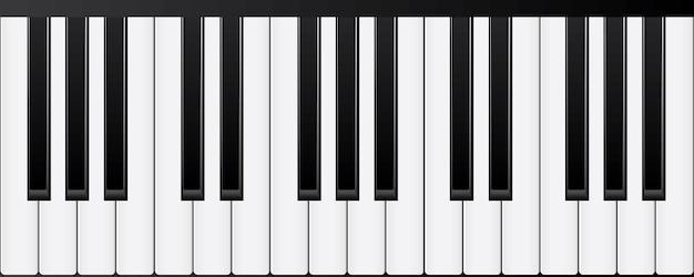 Claviers de piano. différents angles et vues illustration vectorielle Vecteur Premium