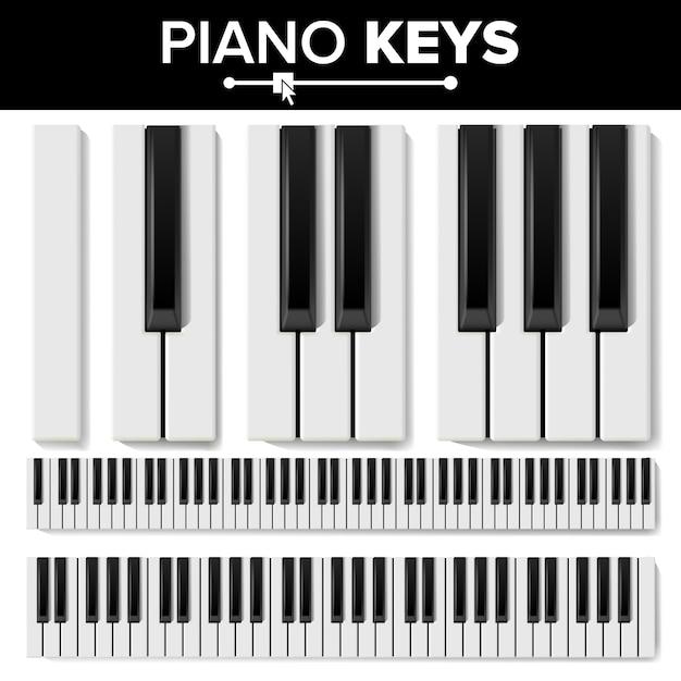 Claviers de piano Vecteur Premium