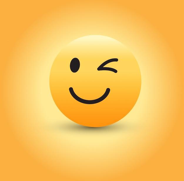 Clignant Des Yeux, Emoji. Vecteur Premium